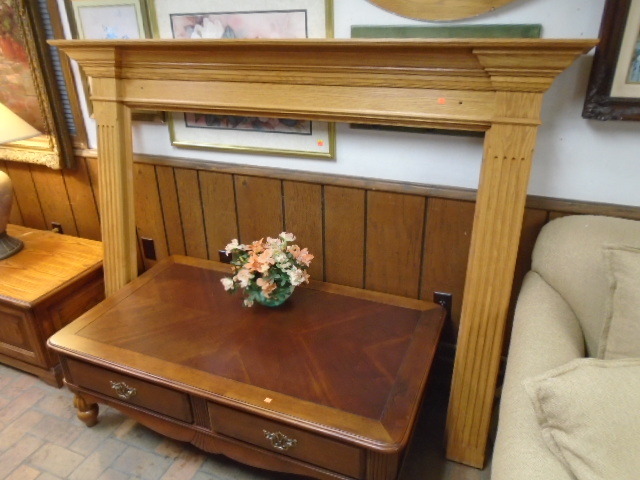 Oak Fireplace Mantel