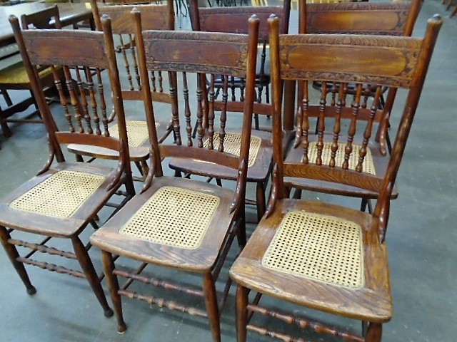 Set of 6 Vintage Rustic Chairs