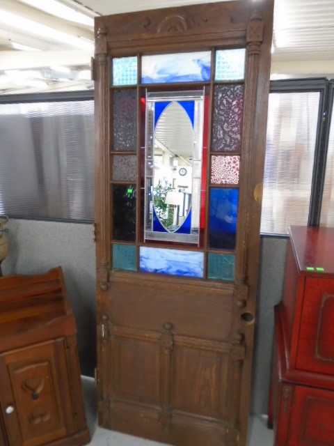 Vintage Stained Glass Door