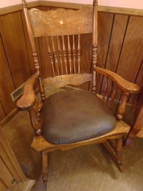 Tiger Oak Rocking Chair
