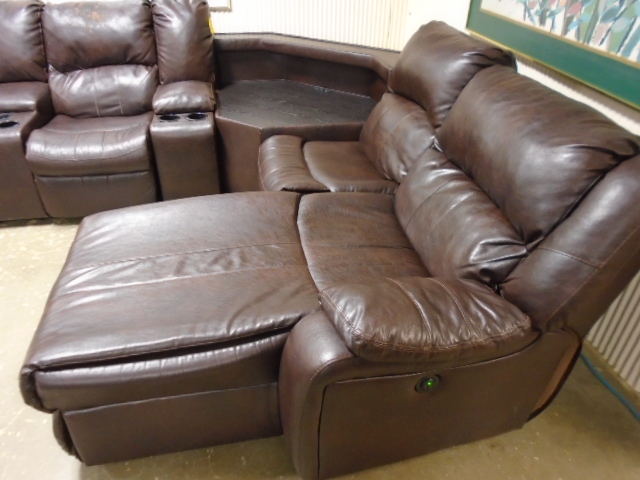 Sectional with Chaise and Power Recliners
