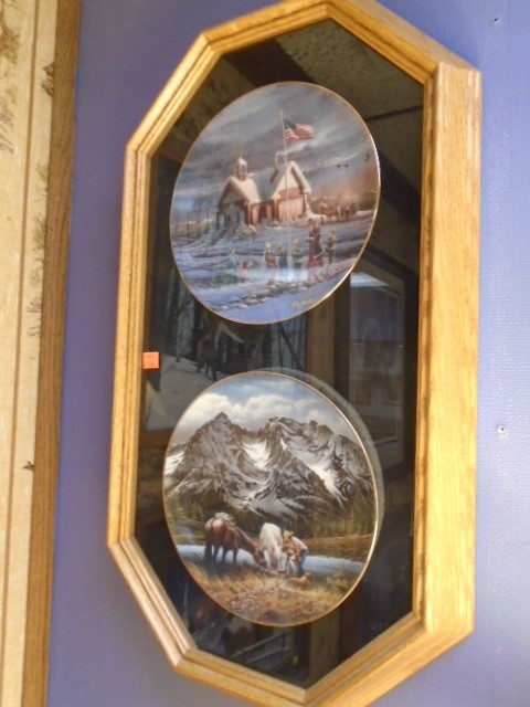 Terry Redlin Plates and Case