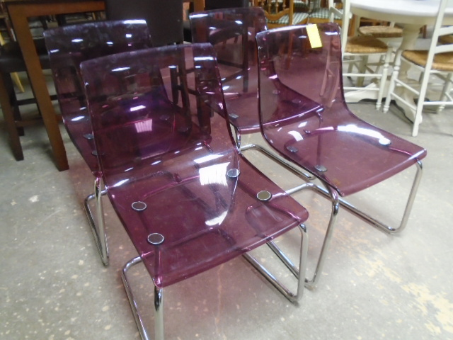 Set of 4 Acrylic Chairs