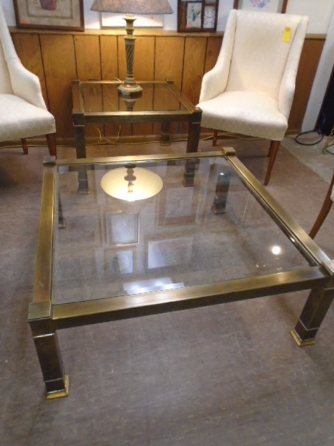 Large Glass Top Coffee and End Table