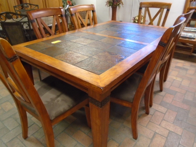 Slate Top Dining Room Set