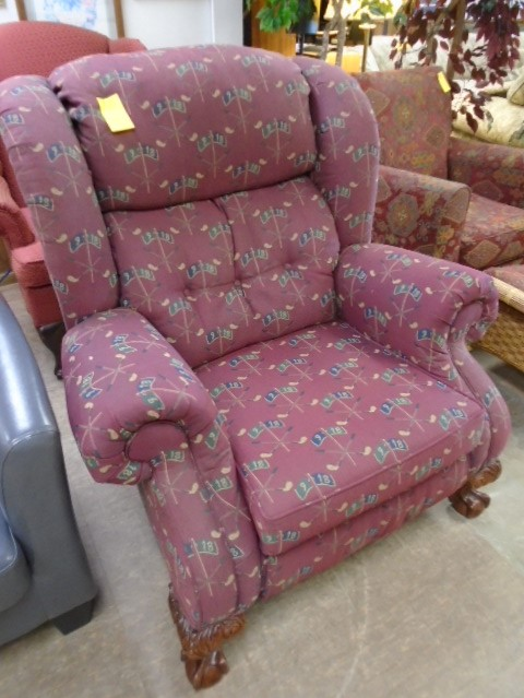 LANE Golf Theme Wingback Recliner