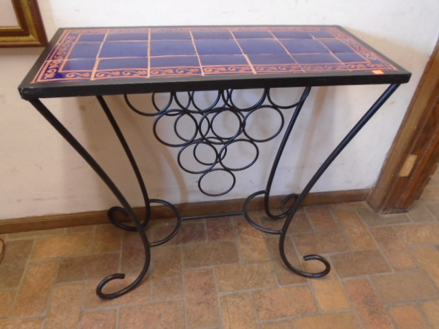 Tile Top Wine Rack