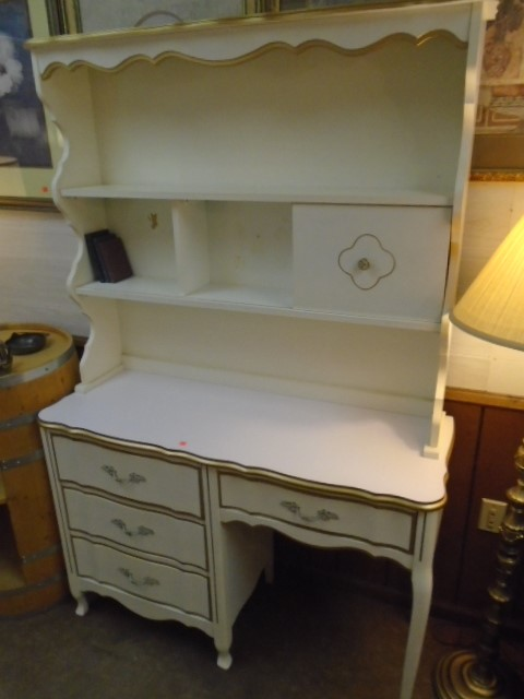 French Provincial Desk and Shelf