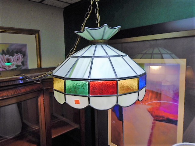 Leaded Stained Glass Swag Lamp