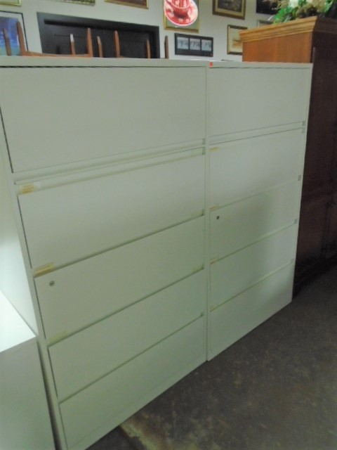 Steelcase 5 Drawer Locking Lateral File Cabinets